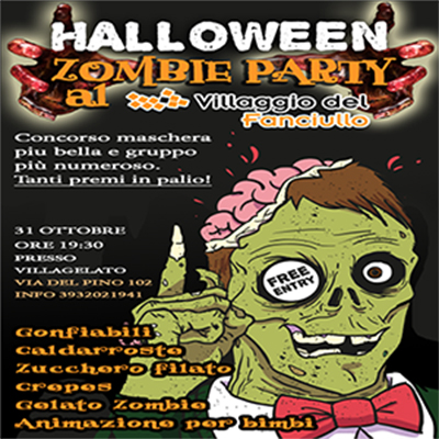 Halloween ZOMBIE PARTY al Villaggio del Fanciullo