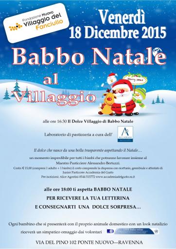 Locandina Babbo Natale al Villaggio